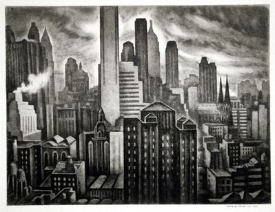 Howard N. Cook, 'Soaring New York', 1931-1932