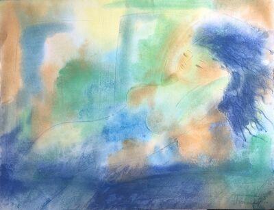 Peggy Hinaekian, 'Nude With Blue Hair', 2010