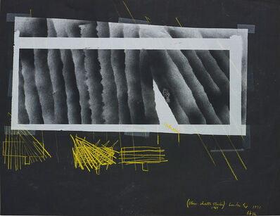 Barry Le Va, '(Blown Chalk Studies 1969) London Ex.', 1971