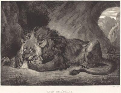 Eugène Delacroix, 'Atlas's Lion (Lion de l'Atlas)', 1829