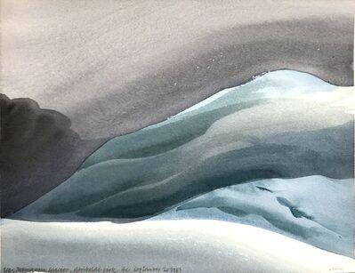Toni Onley, 'Ice, Mamquam Glacier, Garibaldi Park, BC', 1983