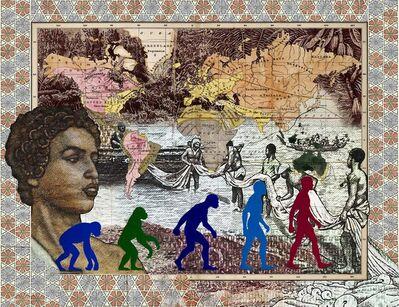 MALALA ANDRIALAVIDRAZANA, 'Figures 1856, Leading races of man', 2016