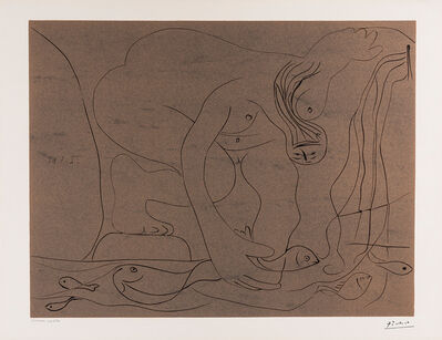 Pablo Picasso, 'Femme nue pêchant des truites à la main. (Nude Woman Fishing for Trout by Hand.)', 1962