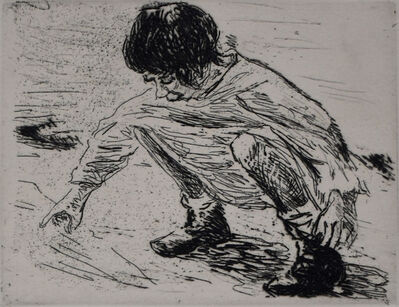 Max Liebermann, ' Playing Child | Spielendes Kind', 1921