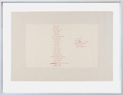 Alex Hanimann, 'Untitled [Nicht ohne]', 1980-2000