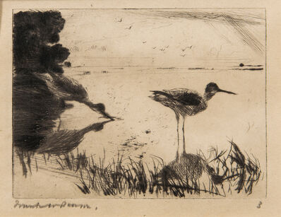 Frank Weston Benson, 'Pair of Yellowlegs', 1916