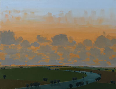 John Karl Claes, 'Late Light - Low Clouds'