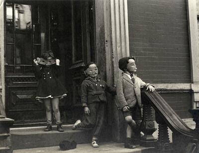 Helen Levitt, 'N.Y.C. (three kids with masks)', ca. 1939