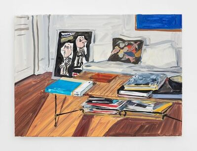 Jean-Philippe Delhomme, 'Interior with David Hockney book', 2020