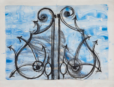 Jim Dine, 'Blue Detail from the Crommelynck Gate', 1982