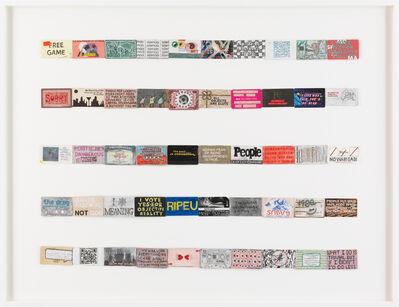 Simon Evans™, 'Archive of slogans #3 (for Jac Leirner)', 2018
