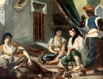 William-Adolphe Bouguereau, 'FEMMES D'ALGER DANS UN APPARTEMENT AFTER DELACROIX', ca. 1855