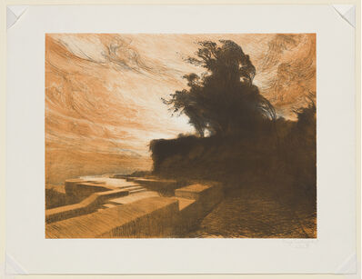 Charles-Marie DULAC, 'The Wind, plate 4 from the portfolio Suite of Landscapes', 1892-1893