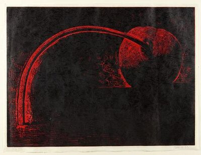 Aaron Fink, 'Aaron Fink, Cocktail Cherry Woodcut', Late 20th Century