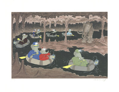Laurent de Brunhoff, 'Babar in the Cave of the Mamouth', 1994