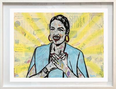 Amy Smith, 'AOC - Framed Pop Art Portrait Print of Congressperson Alexandria Ocasio-Cortez', 2020