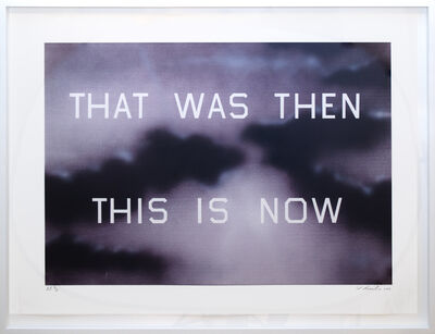 Ed Ruscha, 'That Was Then, This Is Now', 2014