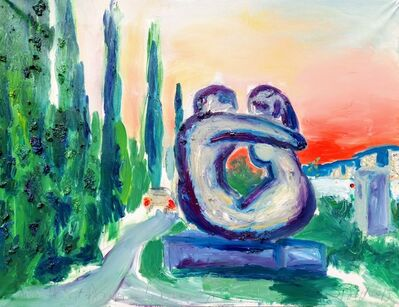 Norma de Saint Picman, 'Water series summer 2019 - plein air in situ paintings, Forma Viva, Portorose', 2019