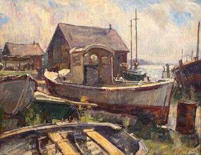 Ben Fenske, 'Boat Yard, Lifting Fog', 2015