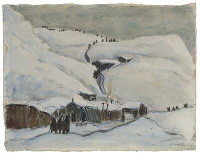 Michele Cascella, 'Baracche di Asiago', 1917