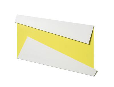 Sébastien de Ganay, 'XL Folded Flat White & Yellow', 2019