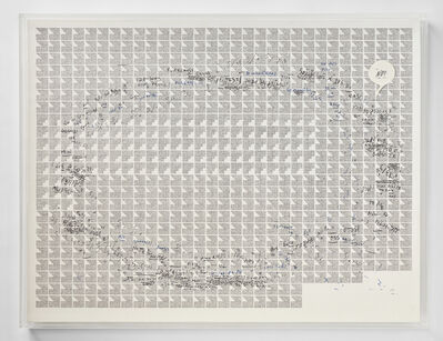"Jose Vera Matos, 'Handwritten transcription of the book ""The way of the masks"" by Lévi Strauss', 2020"