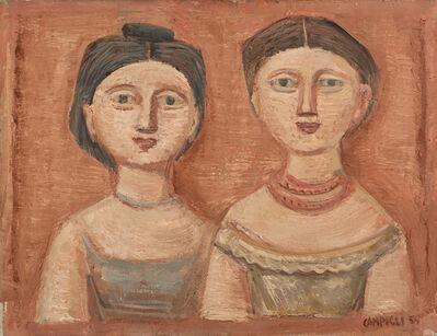 Massimo Campigli, 'Figure di donne', 1954