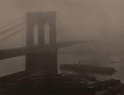 Andreas Feininger, 'Brooklyn Bridge in Fog', 1948