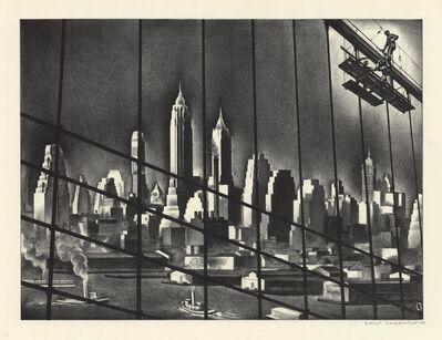 Louis Lozowick, 'Through Brooklyn Bridge Cables.  (Bridge Repairs; Repairing Brooklyn Bridge.)', 1938