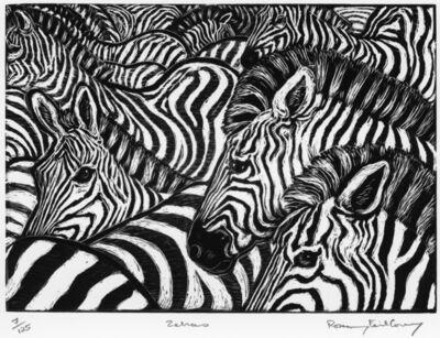 Rosemary Feit Covey, 'Zebras', 2003