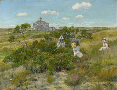 William Merritt Chase, 'The Big Bayberry Bush (The Bayberry Bush)', ca. 1895