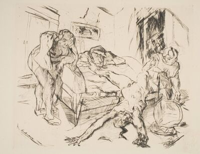 "Max Beckmann, 'Die Nacht, from ""Shakespeare-Visionen""', ca. 1914 (published 1918)"