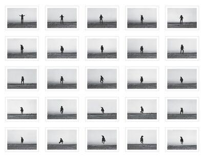 Barbara and Michael Leisgen, '25 Versuche über den Horizont zu springen', 1975