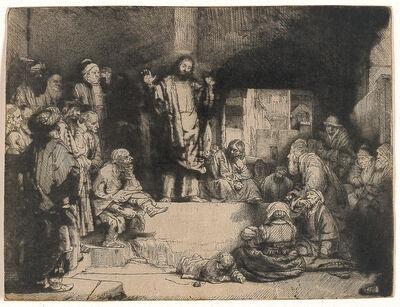 Rembrandt van Rijn, 'Christ Preaching (La Petite Tombe)', 1651