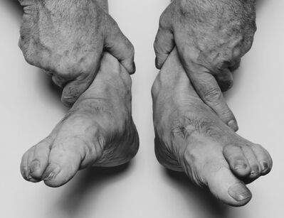 John Coplans, 'Self Portrait, Hands Holding Feet', 1985