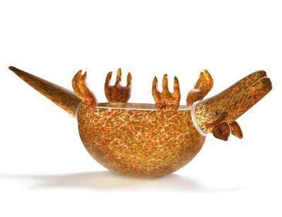 Borowski Glass, 'Armadillo Bowl: 24-03-12 in Orange', 2018
