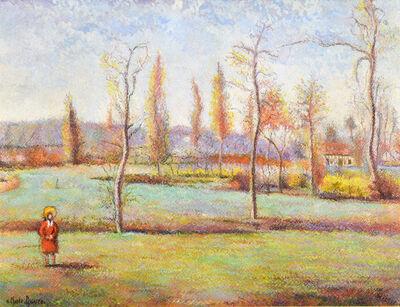 Hugues Claude Pissarro, 'Le jardin-Meslin à la sortie de Flers', Late 20th century