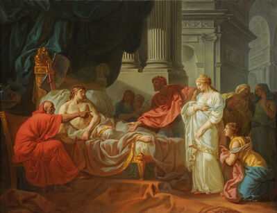 Jacques-Louis David, 'Erasistratus Discovers the Cause of Antiochus's Disease ', 1774