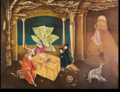 Leonora Carrington, 'And then we saw the daughter of the minotaur', 2010