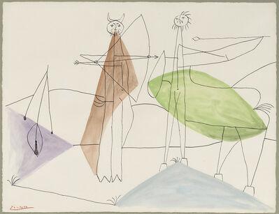 Pablo Picasso, 'Le combat de faune et de centaure', 1946