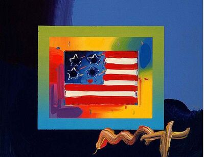 Peter Max, 'Flag With Heart On Blends II', 2008