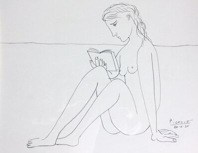 John Myatt, 'Reading Nude'