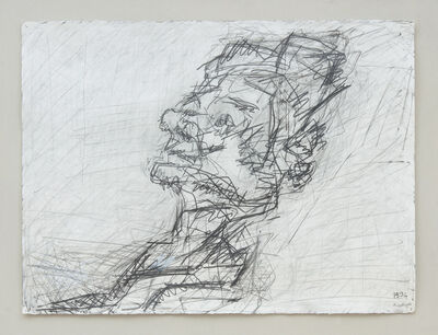 Frank Auerbach, 'Reclining Head of Julia II', 1994