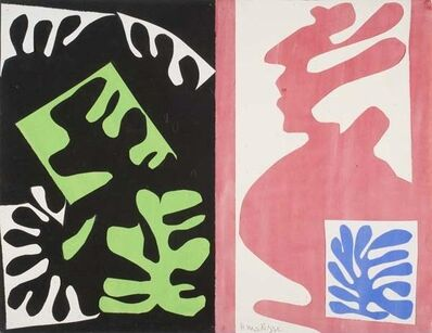 Henri Matisse, 'Composition, Black and Red', 1947