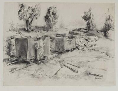 Durant Sihlali, 'Loading Timber', 1975
