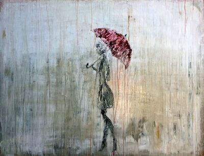"""Roger Konig, '""""Abstract Girl in the Rain No.1""""', 2017"""