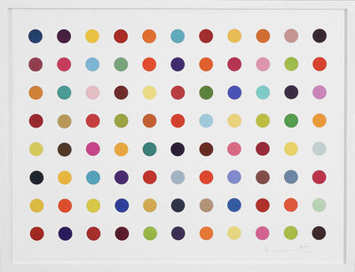 Damien Hirst, 'Horizontal Multi-color 'Spots' Woodcut', 2018
