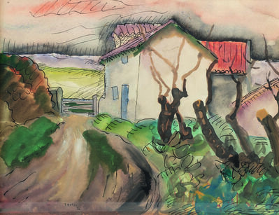 Jacques Gotko, 'Chemin dans un hameau', 1926