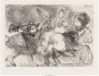 Pablo Picasso, 'Mameluk enlevant une femme, pl. 106, from Séries 347', 1968
