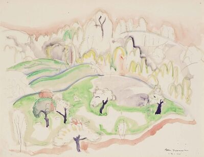 William Zorach, 'Five Apple Trees on a Hill', 1914